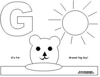 groundhog coloring - Yelom.digitalsite.co