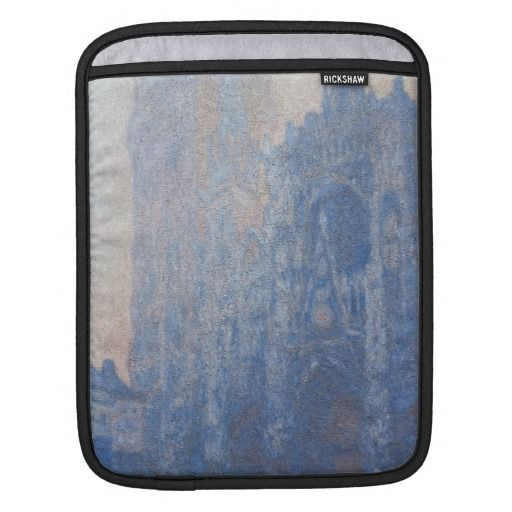 Rouen Cathedral Facade Tour d Albane by Monet Sleeve For iPads