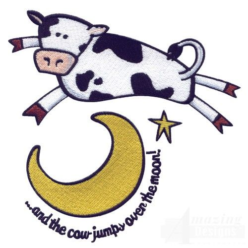 Cow Over Moon Cow Drawing Cow Moon Tattoo