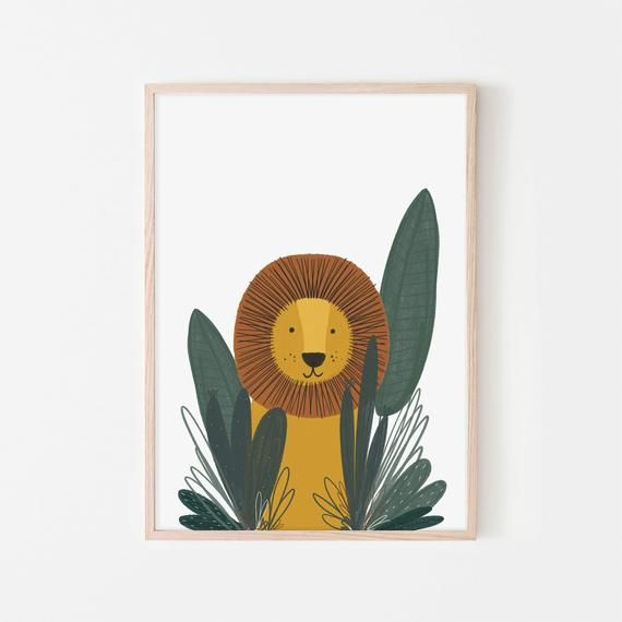 Mr Lion Animal Safari Art Framed Print Etsy In 2020 Safari Art Framed Prints Art Wall Kids