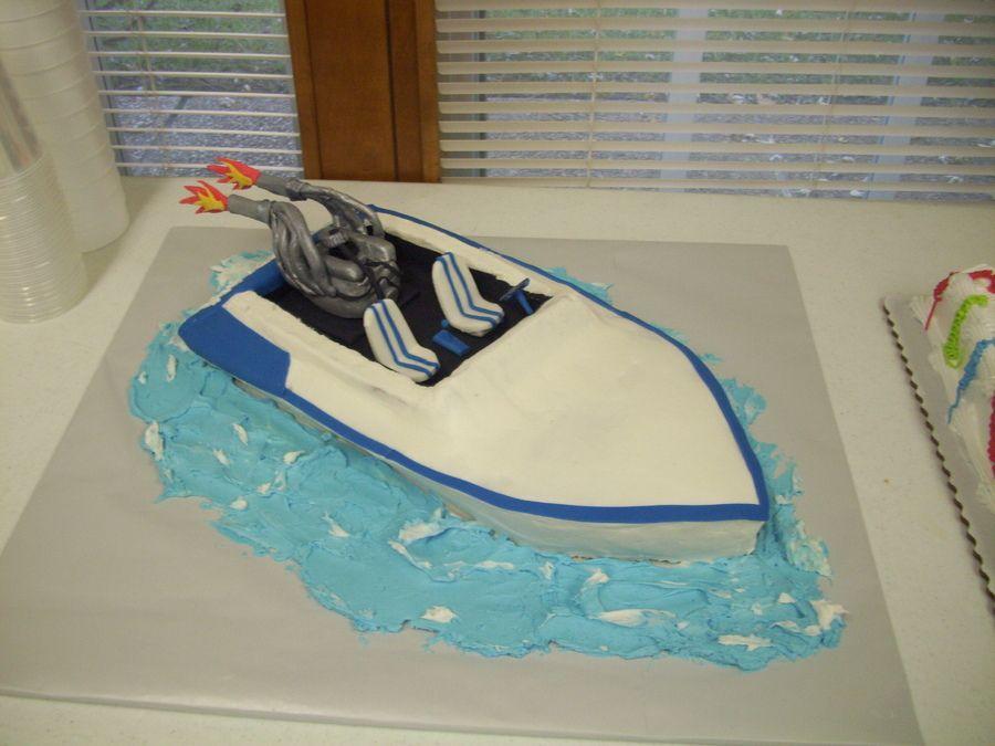Boat Cakes Jet Boat Cake  Birthday Cakes Cute Cakes - Boat birthday cake ideas