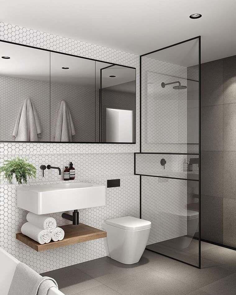 Kleine Moderne Badkamer Of Op Een Intelligente Manier Een Kleine Ruimte Creeren In 2020 Badkamer Modern Badkamer Design Badkamer
