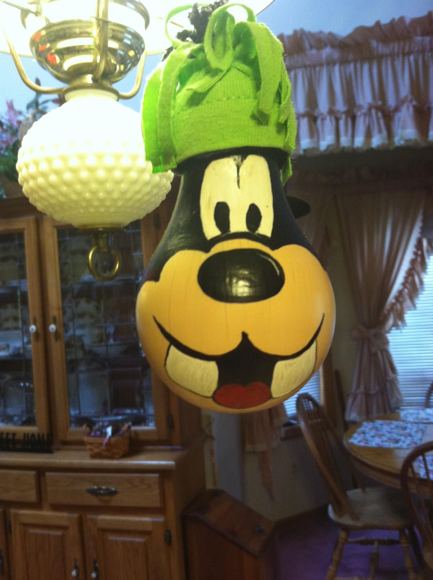 Goofy ornament made from burned out lightbulb | Christmas ...