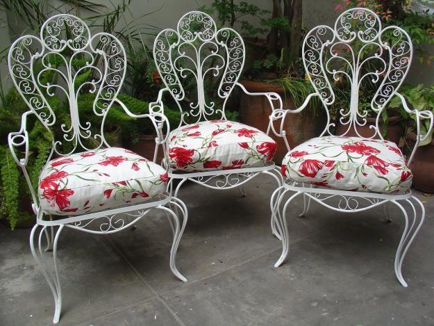 Resultado de imagen para sillon de jardin de hierro   Decorar jardin ...