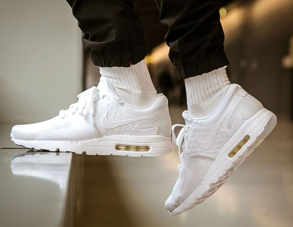 63962af03f Nike Air Max Zero Triple White 876070-100 | Sneakers Shoes & Heels ...