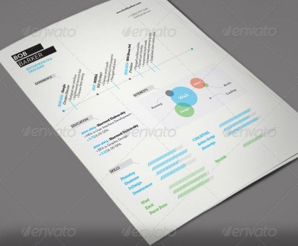 Free Modern Resume Templates On Piece Modern Resume Set 6 Indesign