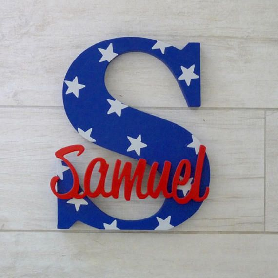 Wood Letters Nursery Letters Wooden Name Nursery Sign Star Letter Wall Art Nursery Letters Wooden Name Letters