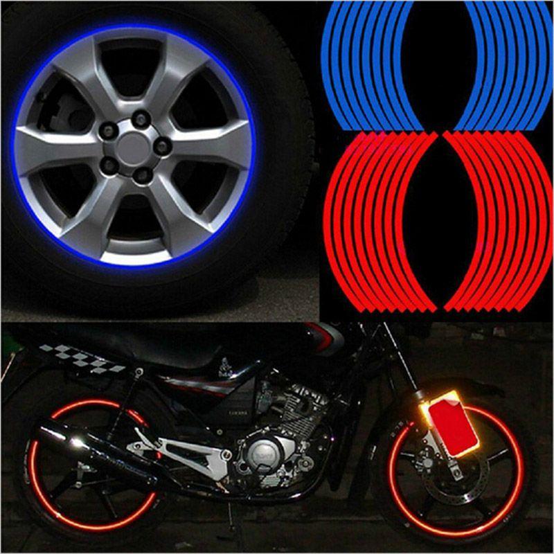 16 Streifen Reflektierende Motocross Bike Motorrad Aufkleber For14