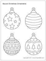 Round Christmas Tree Ornament Set 2 Kerstmis Kleuren Versierde Kerstbomen Vilten Kerstornamenten
