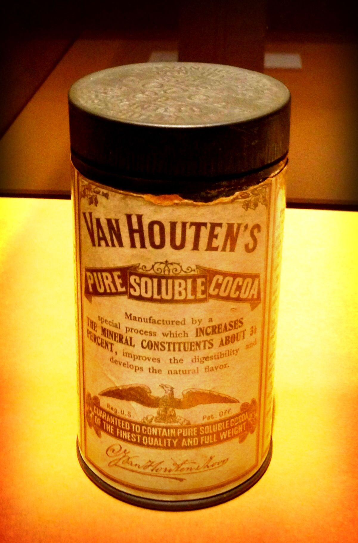 Houten Cilinder Van Houten Thru The Way Back Machine Vintage Tins Tin Antiques