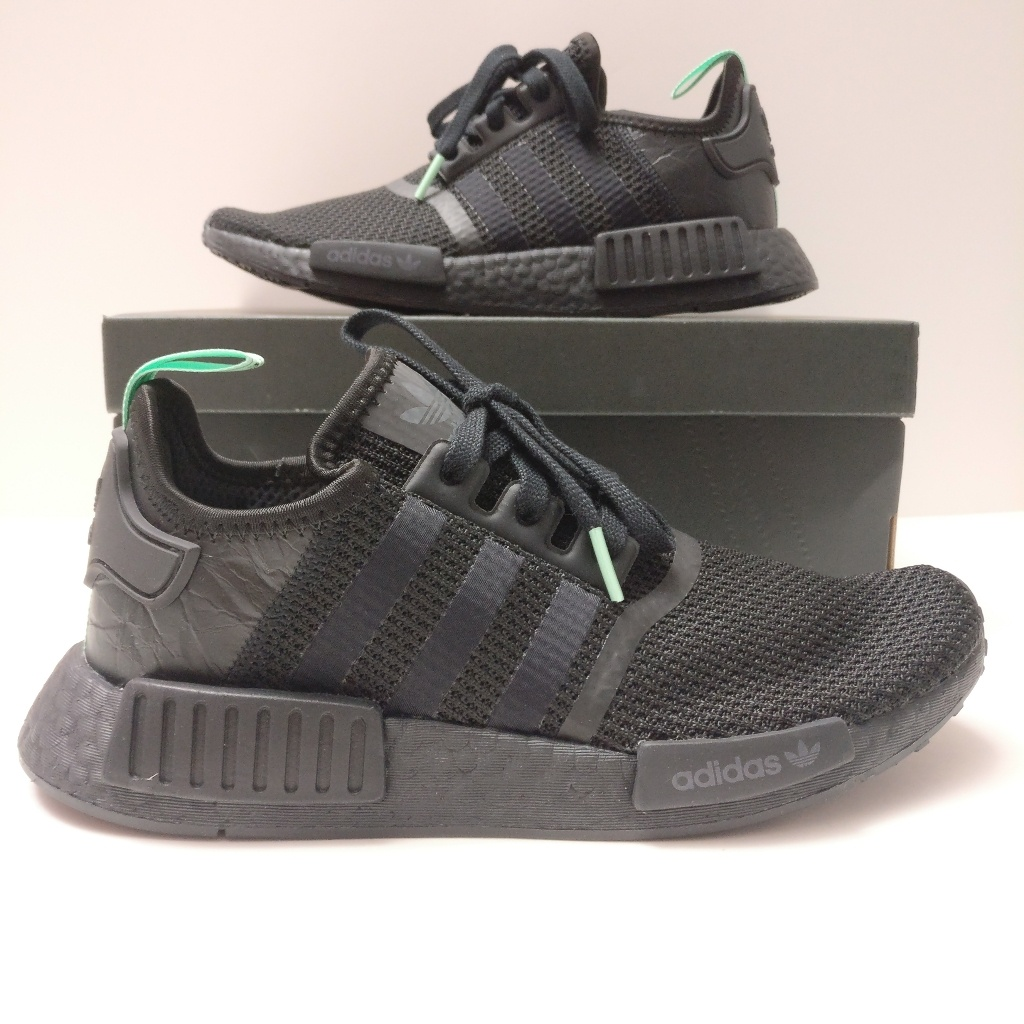 nmd r1 black and green