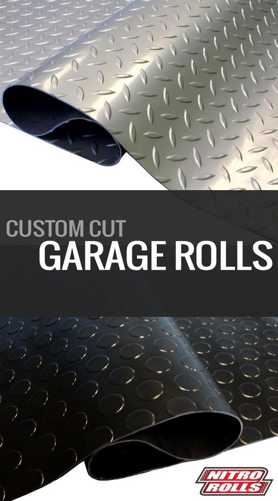 Diamond Nitro Rolls Vinyl Garage Flooring Makeover Man Cave