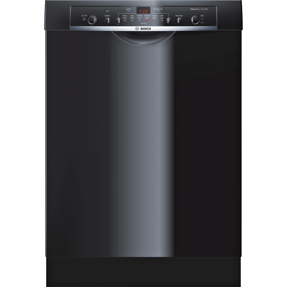 Bosch Ascenta Series Front Control Tall Tub Dishwasher In Black