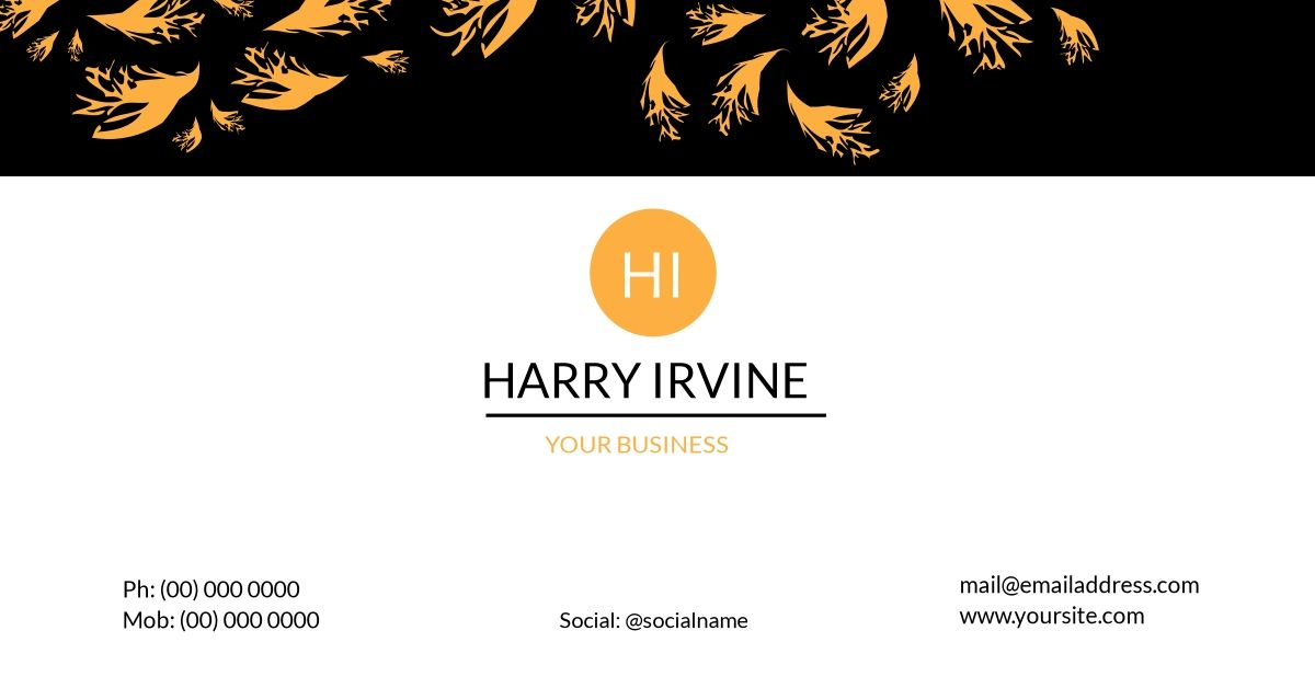 Customize your own business card using Design Wizard. Simply click ...