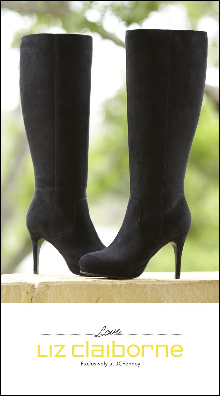 e8cb0dc5579a ... our sleek high heel boots add sophistication to all your  work-to-weekend looks. From the Liz Claiborne collection