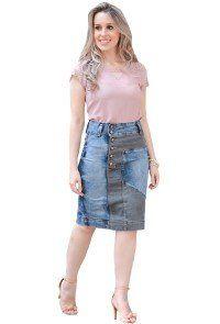 17eccbe54fc Compre Saia Raje Jeans Duas Cores Moda Evangélica. Entrega rápida e segura.  Aproveite e compre agora!