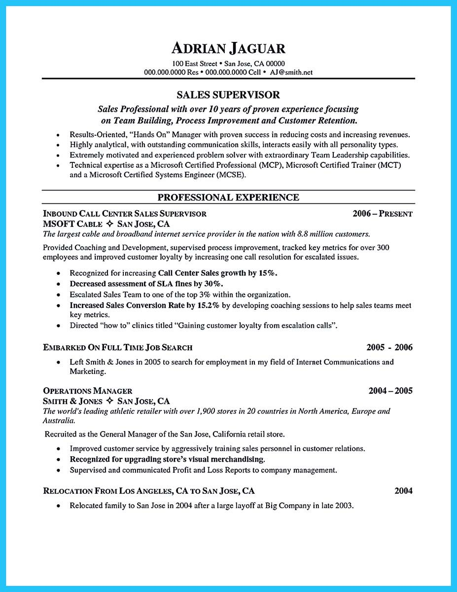 Call Center Resume Template Awesome Create Charming Call Center Supervisor Resume With Perfect