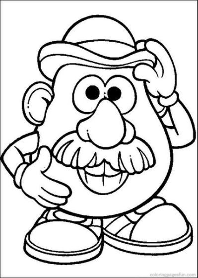 Mr Potato Head Coloring Pages Toy Story Coloring Pages Cartoon Coloring Pages Coloring Pages For Kids