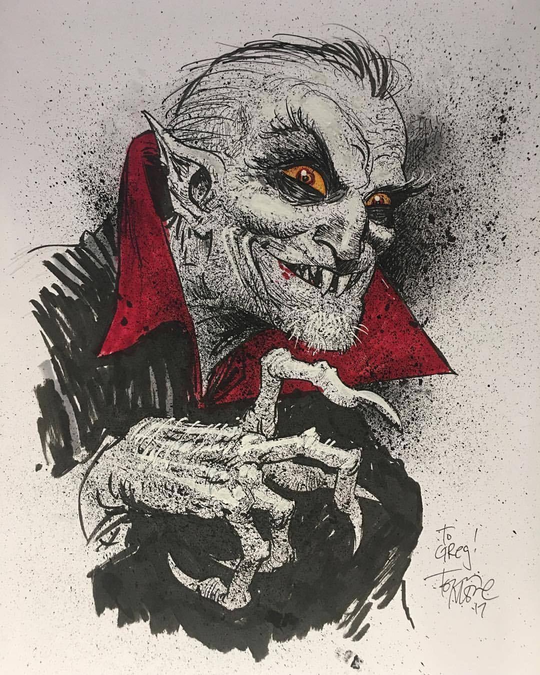 Дракула рисунок карандашом