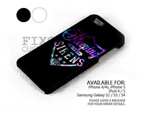 Sleeping Sirens Galaxy case for iPhone 4/4S/5 iPod 4/5 Galaxy S2/S3/S4 | FixCenter - Accessories on ArtFire