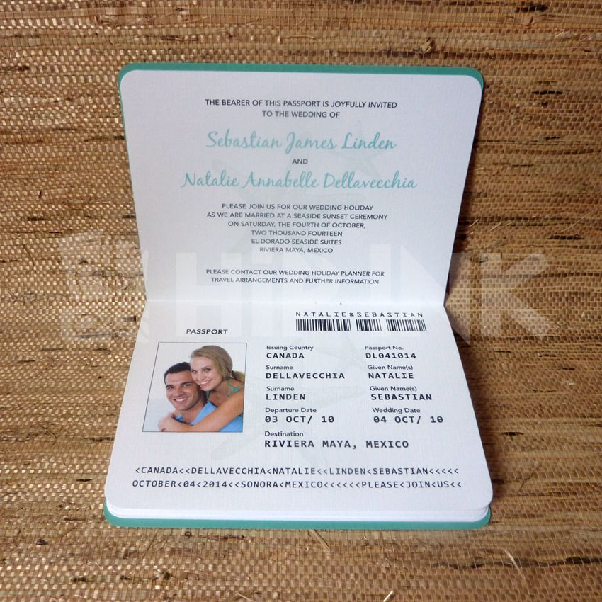 wedding passport invitation template | wedding travel | pinterest, Wedding invitations