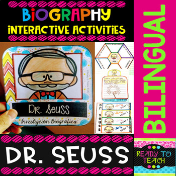 ENGLISH VERSIONYou will find a set of 4 different tasks to work on the biographies of DR SEUSS. There are 4 interactive activities to be done:Interactive Task 1: Students have to search facts about the biography of this famous person and write those facts related to his/her early and family life , ...