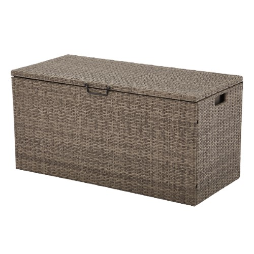 Better Homes And Gardens 100 Gallon Mayers Bay Wicker Deck Box Wicker Deck Box Better Homes And Gardens Outdoor Deck Storage Box