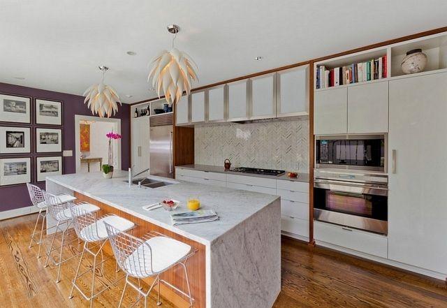 Îlot central cuisine fonctionnel - 30 photos et conseils utiles ...