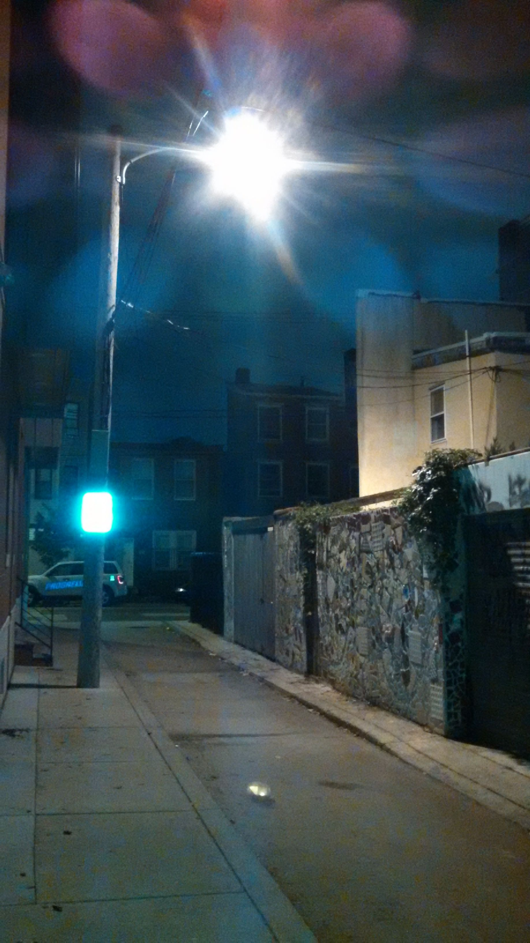This streetlamp does a wonderful job of lighting my back alley BUT it also lights my library and the interiors of all of the neighbor's homes.  I think a full shut off cowling would provide safety lighting and bring peaceful darkness to our homes. Next step - talk to the city about making that change. #DarkSkies