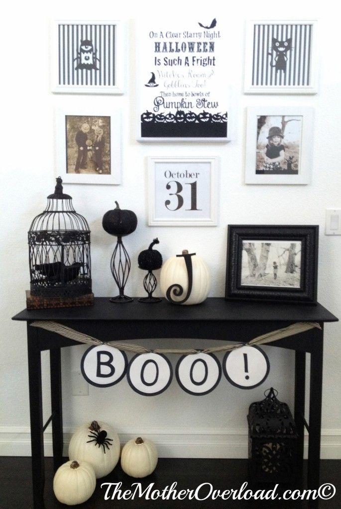 Halloween, hallway, entryway, DIY, decor, inexpensive, PicMonkey - halloween diy decoration