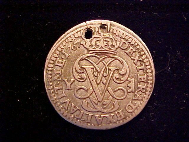 foto de Spanish Old World Silver 1 Reales, SEGOVIA, SPAIN, Y, Dated 1707 ...