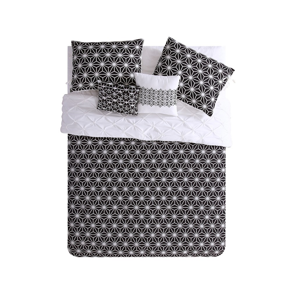 Black White Zarah Comforter Set Full Queen Vcny Gender