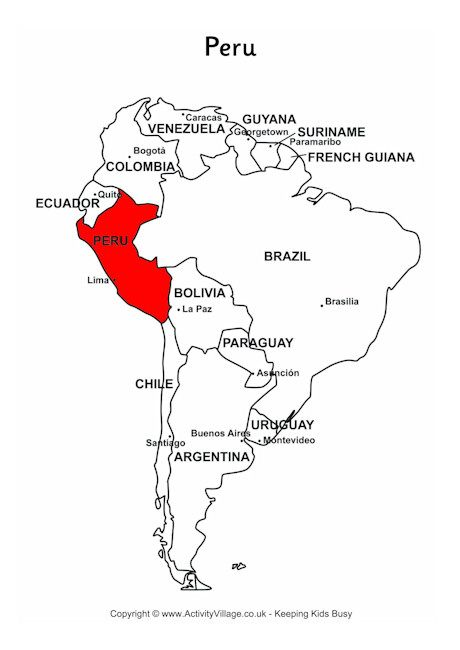Peru on map of South America Study-poster ideas Pinterest - fresh world map quiz practice