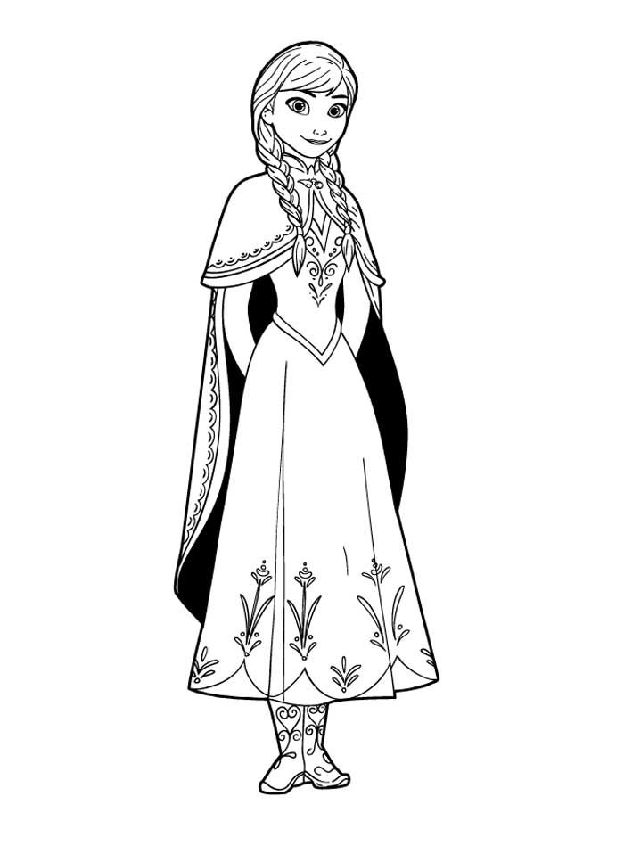Disney Frozen Anna Coloring Pages - LetsColoring.com | shrinky dink ...