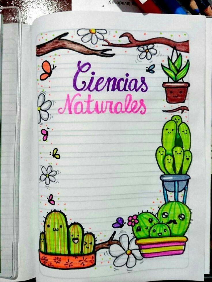 Margenes Creativos Portadas De Cuadernos Portada De Cuaderno De Ciencias Cuadernos De Dibujo