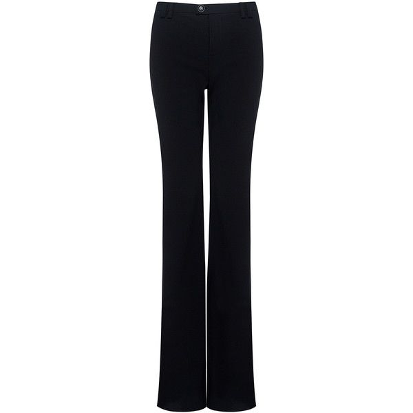 Marissa Webb - Toby slim flare pants ($398) ❤ liked on Polyvore featuring pants, flared trousers, holiday pants, workwear pants, flare pants and slim pants