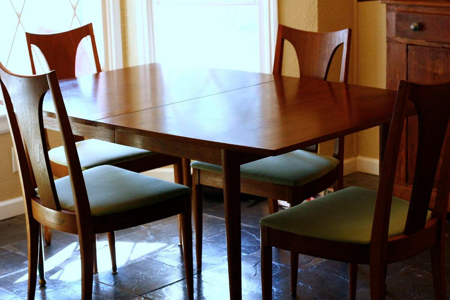 Mid Century Modern Table Six Matching Chairs Gorgeous Design