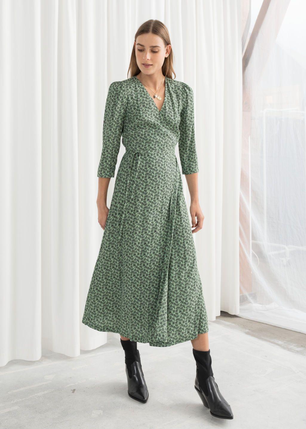 Midi Wrap Dress Floral Print Wrap Dresses Other Stories Dresses Wrap Dress Midi Dress