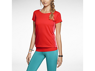 Nike Dri-FIT Knit Short-Sleeve Epic Crew Women's Training Top