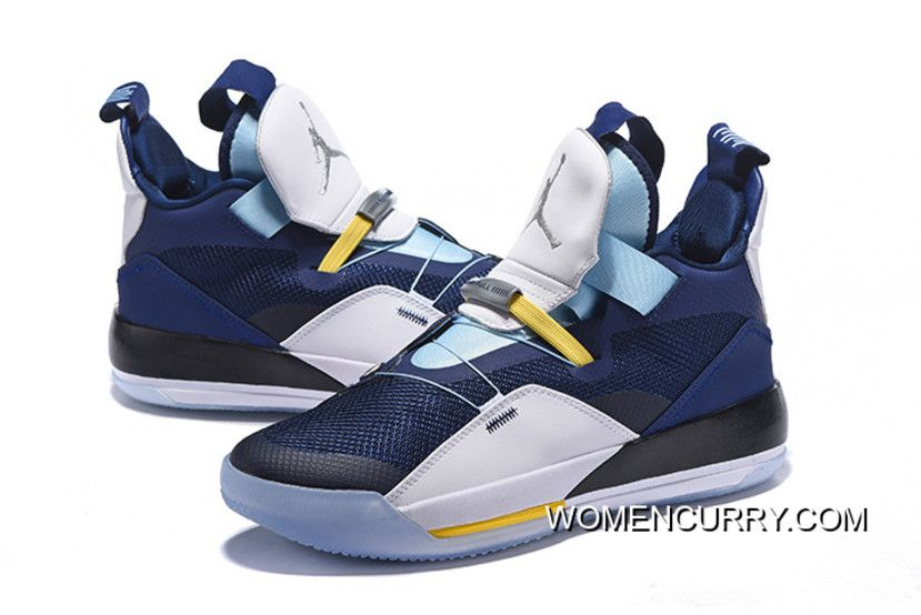sports shoes c3ca7 fbb3d New Year Deals Air Jordan 33 XXXIII Navy Blue White-Mint Green-Yellow