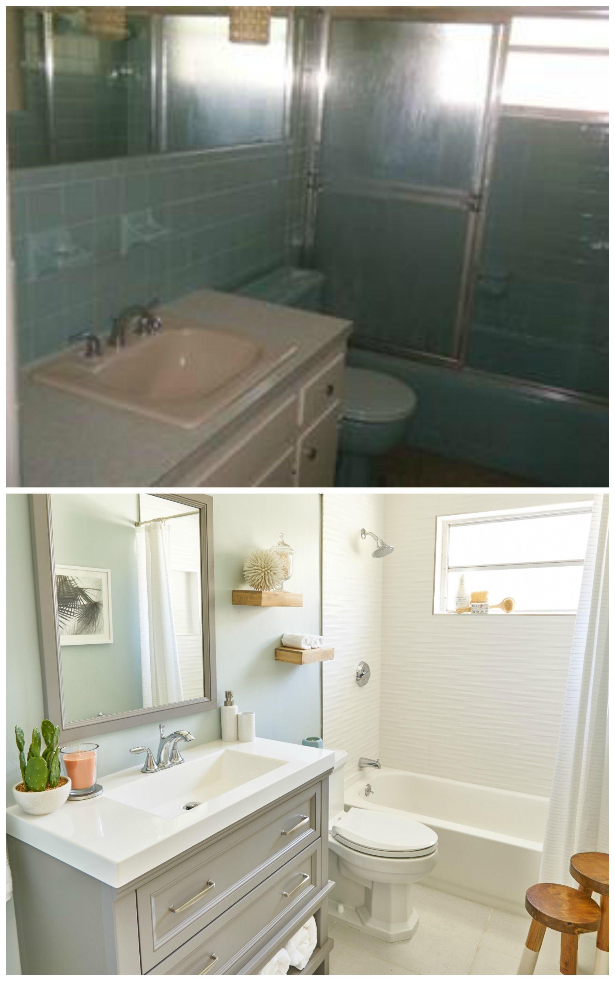 Bathroom makeover featuring the Scott McGillivray