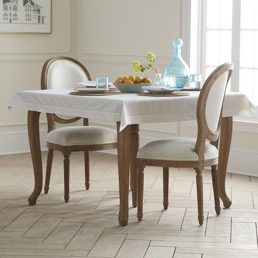 White Cotton Tablecloth – 60 x 120 - NEW