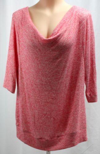 American-Rag-Womens-Drape-Neck-3-4-Sleeve-Polyester-Blend-Plus-Size-Sweater-1X