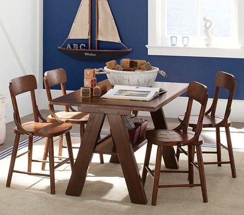 Hudson Trestle Table And Chairs Pottery Barn Kids Kids