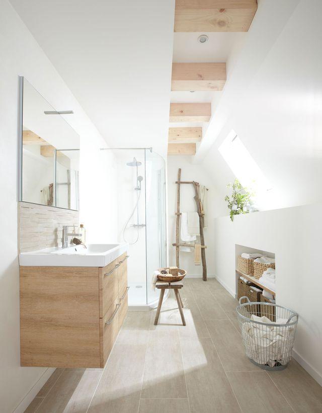 am nager un grenier en 5 tapes bathrooms pinterest loft cl s et salle de bains. Black Bedroom Furniture Sets. Home Design Ideas