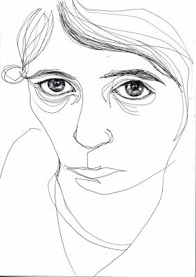 Line drawing - self portrait