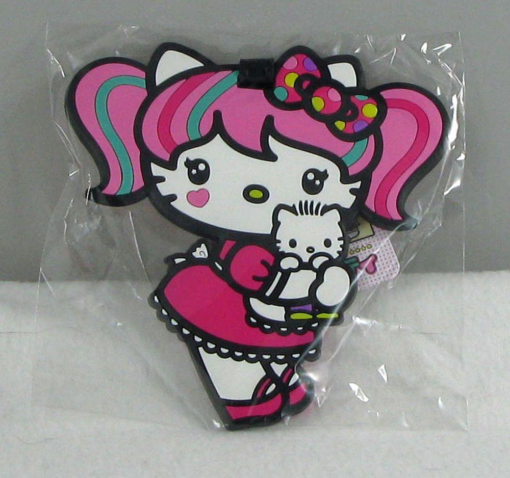 Hello Kitty JAPANIMATION LUGGAGE ID TAG w Dear Daniel Comic Con Facebook SDCC