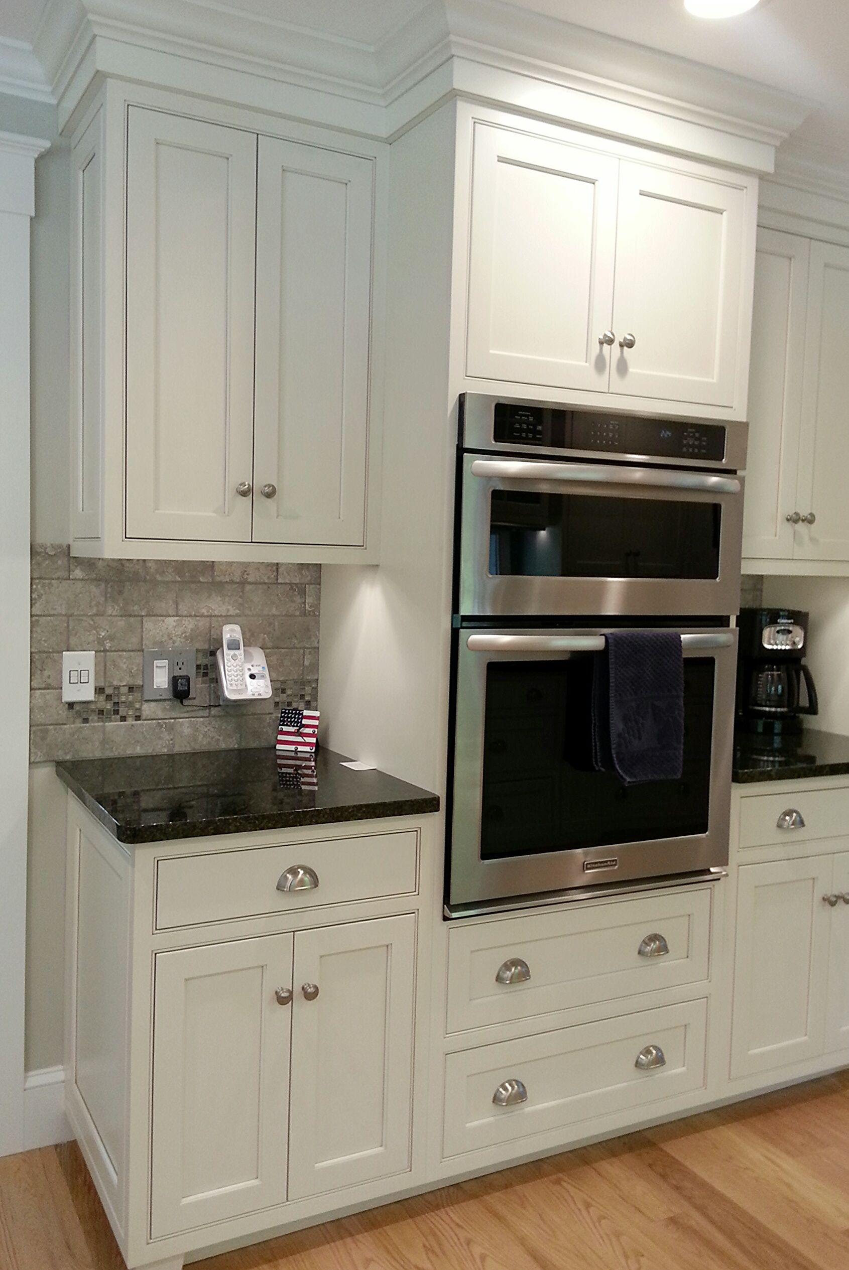 White Millbrook Kitchen With Granite Countertops 2 Of 3 Granite Countertops Kitchen Kitchen Granite Countertops