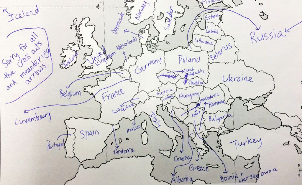 map of europe to label This is What Happens When Americans are Asked to Label Europe and