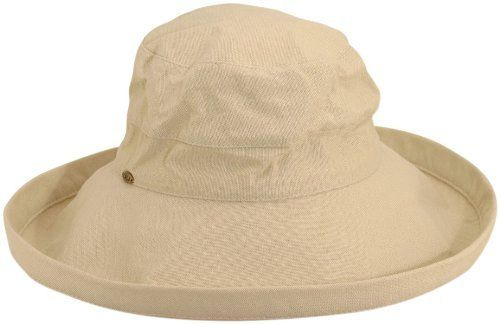 a77743febd9 Scala Women s Cotton Big Brim Ultraviolet Protection Hat with Inner  Drawstring Scala